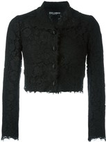 Dolce & Gabbana Cropped Lace Jacket