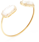 Artisan 18K Yellow Gold, Pearl & 0.85 Total Ct. Diamond Bangle Bracelet
