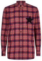 Givenchy Star Motif Check Shirt