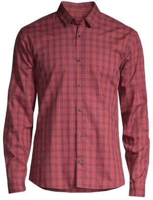 HUGO Ero Relax-Fit Plaid Shirt