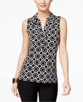 INC International Concepts Printed Sleeveless Blouse, Only at Macy's