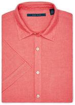 Perry Ellis Short Sleeve Solid Linen Shirt