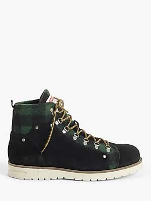 Levant Hiker Boots, Black/Green