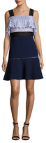 ABS by Allen Schwartz Paneled Squareneck Flare Dress