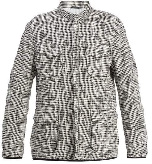 Giorgio Armani Stand Collar Checked Jacket - Mens - Multi