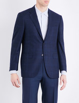 Canali Regular-fit Prince of Wales check wool jacket