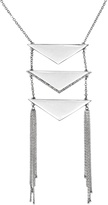 White House Black Market Triangular-Ladder Pendant Necklace