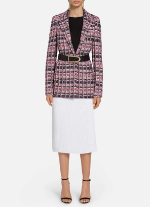 St. John Monarch Textured Tweed Notch Collar Jacket
