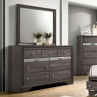 Mutsumi Home Studio Mara 9 Drawer Double Dresser Color: Gray