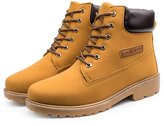 Yinhan YH Mens Winter Plus size Retro High-layer Lace-up Martin Cotton boots