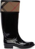 Burberry Black Tall Croshill Rain Boots