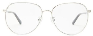 Stella McCartney Round Metal And Bio-acetate Glasses - Womens - Silver