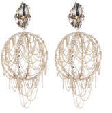 Alexis Bittar Crystal Lace Dangling Sphere Clip Earring