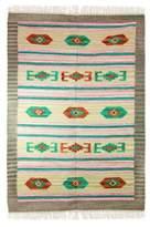 Wool dhurrie rug (4x6), 'Song of Spring'
