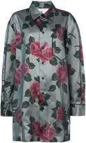 Maison Margiela tulle overlay floral shirt