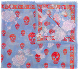 Alexander McQueen skull and hummingbird scarf - women - Silk/Modal - One Size