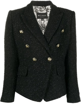 Etro Double-Breasted Tweed Blazer