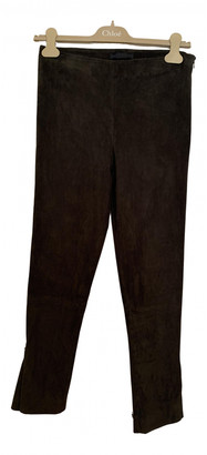 The Row Green Suede Trousers