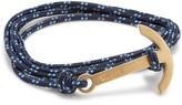 Miansai Brass Modern Anchor Rope Bracelet
