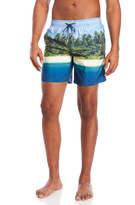 Sundek Elastic Waist Beach Print Board Shorts