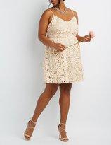 Charlotte Russe Plus Size Floral Crochet Lace Dress
