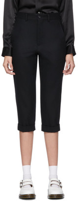 Comme des Garcons Black Wool Flannel Trousers