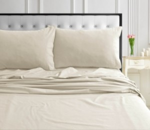 Tribeca Living 170-gsm Ultra-Soft Cotton Flannel Solid Extra Deep Pocket Full Sheet Set Bedding