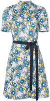 Carolina Herrera floral short sleeve shirtdress - women - Cotton/Spandex/Elastane - 6