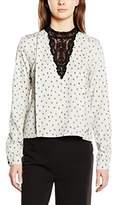 Nümph Women's Regular Fit Long Sleeve Shirt - Off-White -