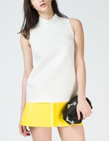MSGM White Band Collar Sleeveless Sweater