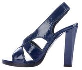Balenciaga Patent Leather Slingback Sandals