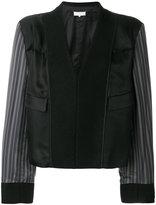 Maison Margiela contrast sleeve fitted jacket