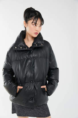Urban Outfitters Faux Leather Puffer Jacket
