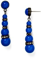 Aqua Bonnie Linear Drop Earrings