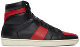 Saint Laurent Black and Red Court Classic SL/10H High-Top Sneakers