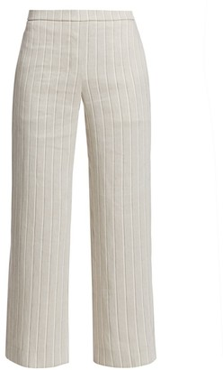 Theory Stripe Pull-On Wide-Leg Pants
