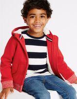 Marks and Spencer Cotton Rich Zip Through Sweatshirt (3 Months - 5 Years)