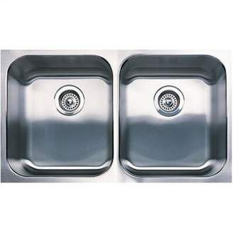 "Blanco Spex 31.13"" L x 18"" W Equal Double Bowl Undermount Kitchen Sink"
