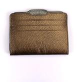 Atelier Hiva Double Card Holder Metallic Brown & Metallic Anthracite