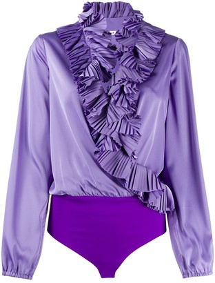 P.A.R.O.S.H. Ruffled Neck Blouse