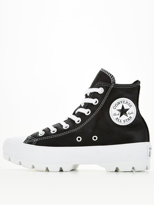 Converse Chuck Taylor All Star Lugged Leather Hi - Black/White