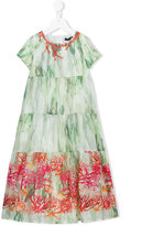 Miss Blumarine embellished sea print dress - kids - Cotton - 8 yrs