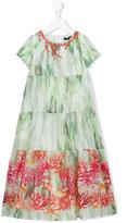 Miss Blumarine embellished sea print dress