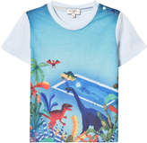 Paul Smith Sky Blue Dinosaur Pool Print Tee