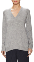 Vince Wool Ribbed V Neck Sweater