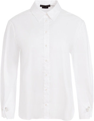 Alice + Olivia Wes Pleated Sleeve Button Down