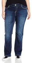 UNIONBAY Women's Plus Size Lauren Surround Stitch 5 Pkt True Bootcut Jean