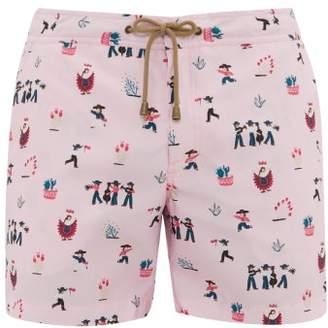 Thorsun Fiesta-print Swim Shorts - Mens - Pink