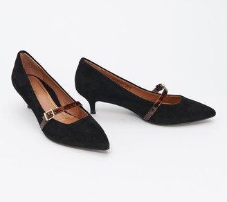 Vionic Suede or Leather Mary Jane Pumps - Minnie
