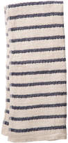 Rejuvenation Navy Stripe Lattice Woven Towel